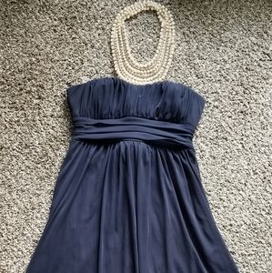 🌹 City Triangles (S) Formal Navy Dress